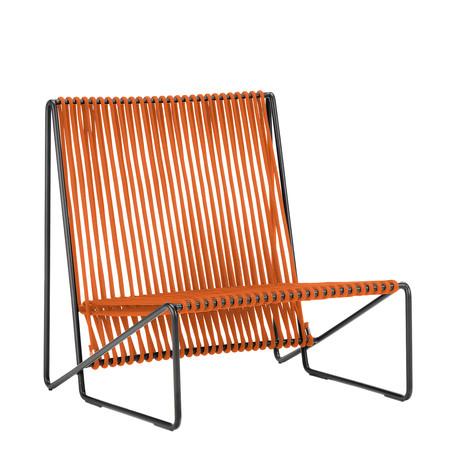 Rada Lounge Chair // Black + Orange Rope