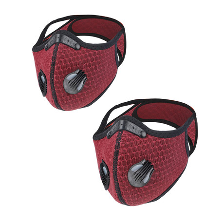 SPORT FACE MASK // 2-Pack // Burgundy