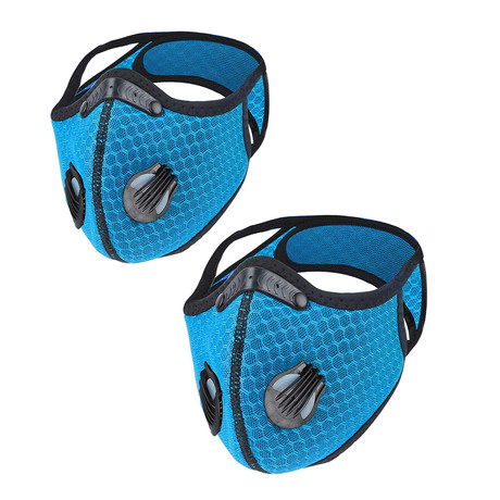 SPORT FACE MASK // 2-Pack // Light Blue