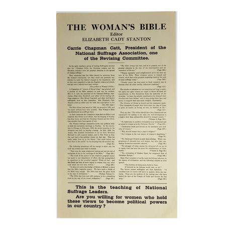 1920s Advertisement for The Woman's Bible by Elizabeth Cady Stanton