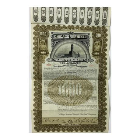 Chicago Terminal Transfer Railroad Bond Certificate // Circa. 1897