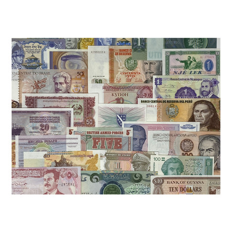 World Paper Money Collection // Set of 100 Banknotes // Uncirculated Condition