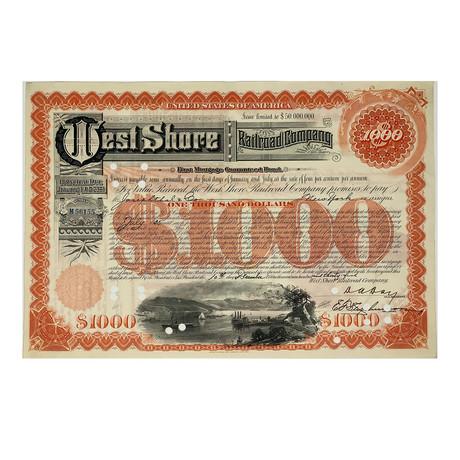 Great American Railroads // Set of 6 Bond Certificates // 1890s - 1950s