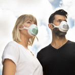 O2 Flow Electric Face Mask // True HEPA + Carbon Filter