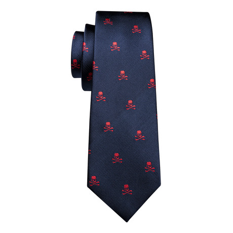 Fargo Handmade Silk Tie // Navy + Red