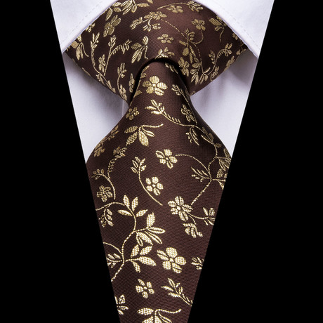 Cain Handmade Silk Tie // Brown