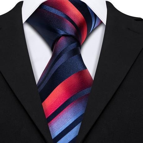 Baker Handmade Silk Tie // Navy + Red