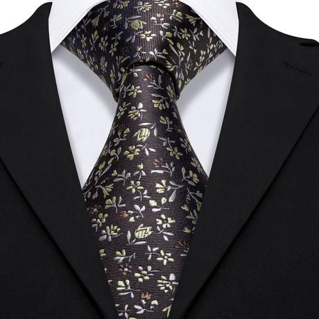 Sylvester Handmade Silk Tie // Black
