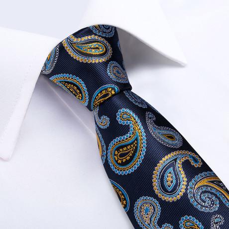 France Handmade Silk Tie // Navy