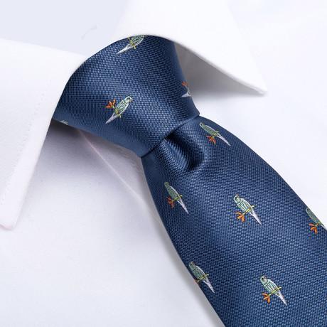 Charlie Handmade Silk Tie // Slate Blue