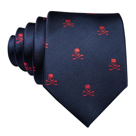 Fargo Handmade Silk Tie // Navy + Red