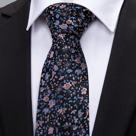 Emilio Handmade Silk Tie // Black