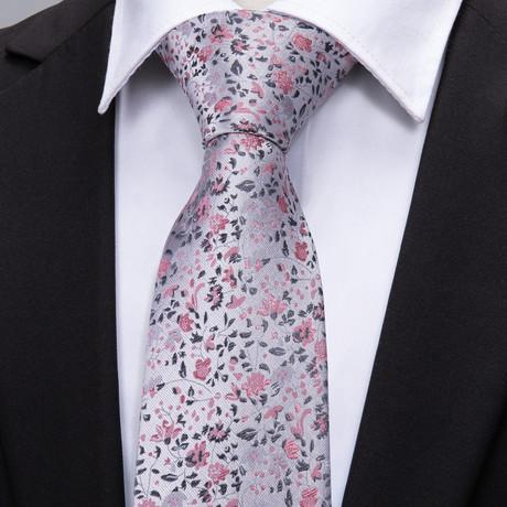 Gene Handmade Silk Tie // Silver