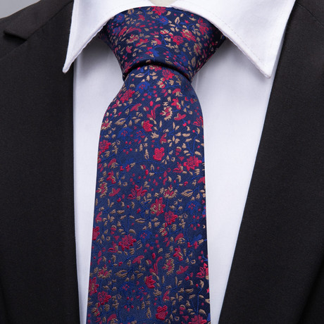 Marlon Handmade Silk Tie // Navy + Red