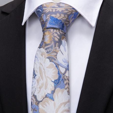 Van Gogh Handmade Silk Tie // Blue + White