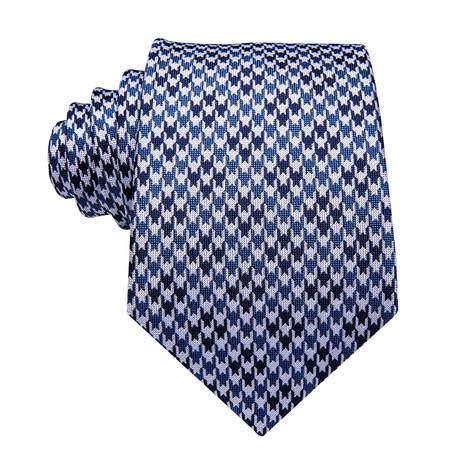 Clint Handmade Silk Tie // Blue + White