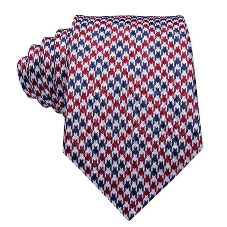 Clint Handmade Silk Tie // Red + White + Blue