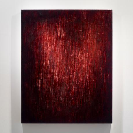 "Roze (Blood) // Commissioned (18""W x 24""H x 2""D)"
