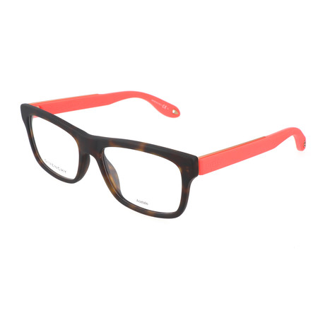 Unisex Rectangle GV-0018-WT1 Optical Frames // Havana + Coral Fluorescent