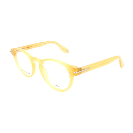 Givenchy // Unisex Rectangle GV-0002-CZ0 Optical Frames // Honey