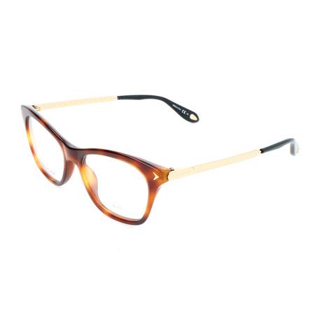 Unisex Rectangle GV-0081-WR9 Optical Frames // Brown + Havana