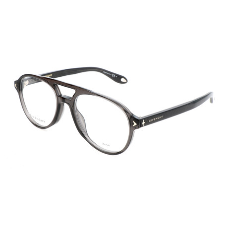 Unisex Rectangle GV-0066-KB7 Optical Frames // Gray