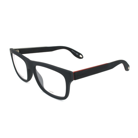 Unisex Rectangle GV-0018-WS4 Optical Frames // Black + Red