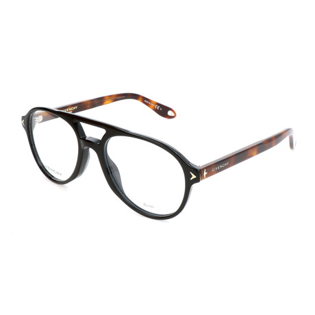 Unisex Rectangle GV-0066-WR7 Optical Frames // Black + Havana