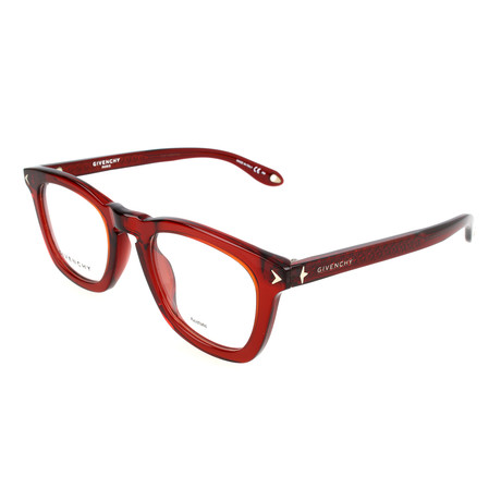 Men's Rectangle GV-0046-C9A Optical Frames // Red