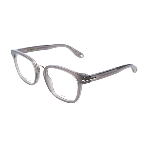 Givenchy // Unisex Rectangle GV-0033-TYP Optical Frames // Dark Gray Opal