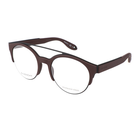 Unisex Round GV-0020-Y2E Optical Frames // Brown + Black