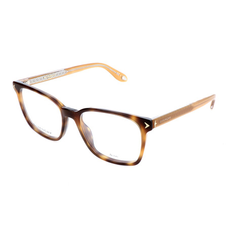 Men's Rectangle GV-0067-086 Optical Frames // Gold Havana