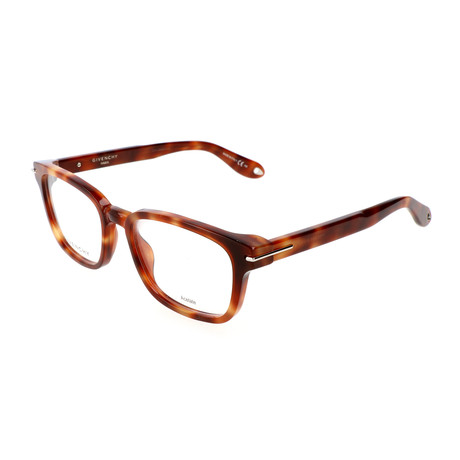 Unisex Rectangle GV-0013-VMB Optical Frames // Havana