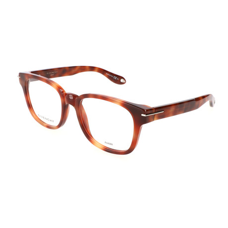 Unisex Rectangle GV-0001-VMB Optical Frames // Havana