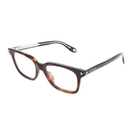 Unisex Rectangle GV-0068-F-086 Optical Frames // Dark Havana