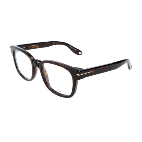 Unisex Rectangle GV-0001-086 Optical Frames // Dark Havana