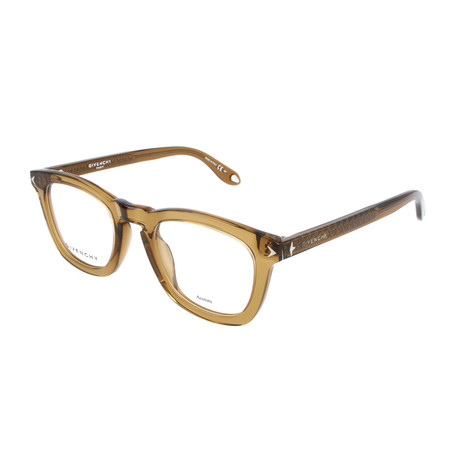 Men's Rectangle GV-0046-OQY Optical Frames // Brown + Matte Olive