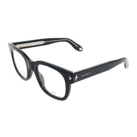 Unisex Rectangle GV-0032-Y6C Optical Frames // Black Crystal