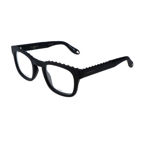 Unisex Rectangle GV-0006-QHC Optical Frames // Matte Black