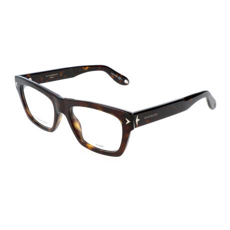 Unisex Rectangle GV-0017-086 Optical Frames // Dark Havana