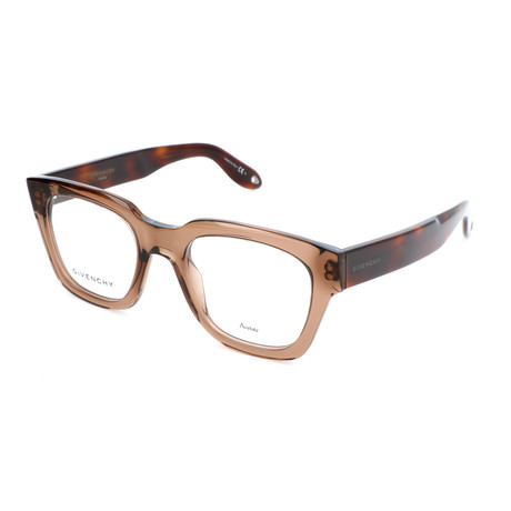 Givenchy // Unisex Rectangle GV-0047-09Q Optical Frames // Brown + Havana