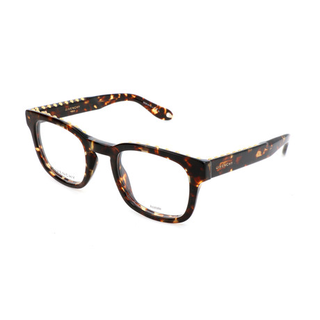 Unisex Rectangle GV-0006-TLF Optical Frames // Havana