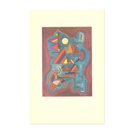 Cut-out Blue and Red and Yellow // Wassily Kandinsky