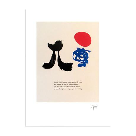 "Illustrated Poems: ""Parler Seul"" VIII  // Joan Miro"