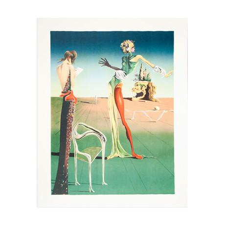 Femme a Tete de Roses (Woman with Head of Roses) // Salvador Dali