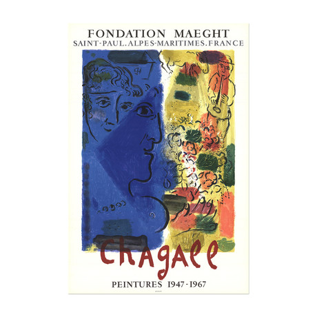 Le Visage Bleu // Marc Chagall
