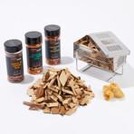 BBQ Smoking Set // Smoke Box + Spice Set + Hickory Wood Chips