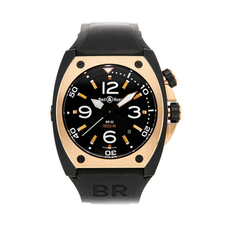 Bell & Ross Automatic // BR02-PINKGOLD // Pre-Owned