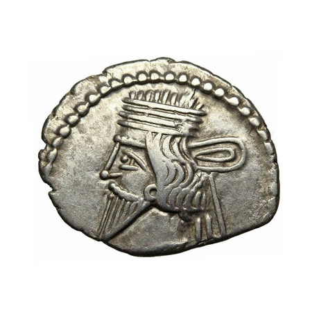 Ancient Persian Silver Coin // Parthian, 105-147 AD
