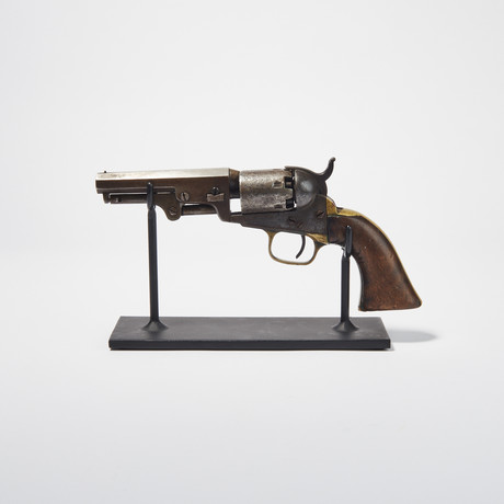 """Civil War Colt Model 1849 // Seven """"Kill Notches"""" on Grip"""